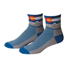"Save Our Soles Colorado 2.5"" Socks, Blue"