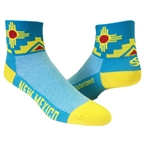 "Save Our Soles New Mexico 2.5"" Socks, Turquoise"