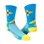 "Save Our Soles New Mexico 5"" Socks, Turquoise"