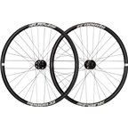 "Spank Spoon 32 Wheelset: 26"" 15 x 100mm Front 12 x 142 / QR x 135mm Rear Shimano 10/11 MTB Freehub, Black"