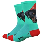 "DeFeet Aireator 6"" Party Pupper Sock: Teal"