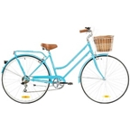 Reid Ladies Classic 7-Speed Steel Bike 700c Baby Blue
