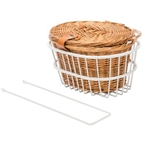 Reid Ladies Classic Wicker Front Basket Kit with Lid