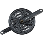 Shimano FC-M371 9-Speed 170MM 26X36X48t, Square Crankset with Chain Guard, Black