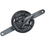 Shimano Altus M2000 9-Speed 170mm 22/30/40t Square Crankset with Chainguard, Black