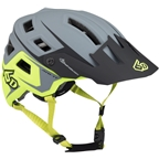 6D ATB-1T Evo Trail Helmet: Matte Gray/Neon Yellow, MD/LG