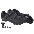 Serfas Men's Switchback Buckle Mountain Shoes Black SMM-501B