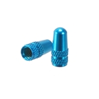 Alligator Alloy Valve Cap, Presta, Blue - Pair