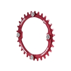 Blackspire Snaggletooth 104BCD Oval NW Chainring, 30t - Red