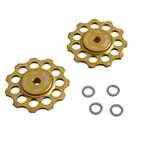 Kogel Bearings Hybrid Ceramic Derailleur Pulleys, Road, 10/11sp - Gold
