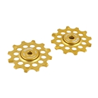Kogel Bearings 12T Hybrid Ceramic Derailleur Pulleys, SRAM 1X - Gold