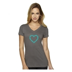 DHDwear Chain Heart T-Shirt - Gray