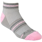 SockGuy Classic Pink Chain Women's Sock: Gray/Pink SM/MD