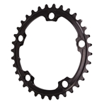 Absolute Black Premium Oval Road Chainring, 5x110BCD 36T - Black