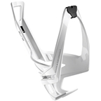 Elite Cannibal XC Water Bottle Cage: Gloss White/Black Graphic