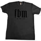 FBM Script T-Shirt: Charcoal Heather
