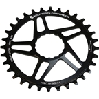 Wolf Tooth Components Drop-Stop Chainring: 34T, for RaceFace CINCH Direct Mount, Boost Chainline, Black