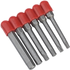 Prestacycle Bicycle Tool Bits, 6 Piece 50mm CR/V Bit Set