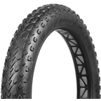 "Vee Tire Co. Mission Command Fat Bike Tire: 26 x 4.7"" 120tpi Folding Bead MPC Compound, Tubeless Ready, Black"