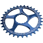 RaceFace Narrow Wide Chainring: Direct Mount CINCH, 32t, Blue