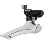 microSHIFT R10 Front Derailleur 10-Speed Double, 56T Max, 31.8/34.9mm Band Clamp, Shimano Compatible, Black
