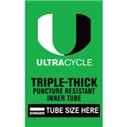 "Ultracycle 20 x 1.5-1.75"" Puncture Resistant Schrader Valve Tube"