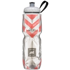 Polar Bottles Insulated Water Bottle: 24oz, Chevron Red