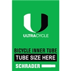 "Ultracycle 26 x 1.5-1.75"" Schrader Valve Tube"