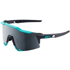 100% SpeedCraft Sunglasses: Soft Tact Celeste Green/Cement Gray Frame with Black Mirror Lens, Spare Clear Lens Included