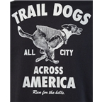 All-City Trail Dogs Across America Men's T-Shirt: Black