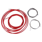 Yokozuna Reaction Brake and Derailleur Cable and Housing Kit, Red