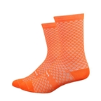 "DeFeet Evo Mount Ventoux 6"" Socks, Hi-vis Orange 12+"