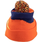 Salsa Pom Beanie: Orange/Blue One Size