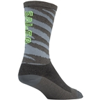 Salsa Team Sock: Gray/Yellow