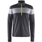 Craft Spark Men's Half Zip Top: Black/Dark Gray Melange