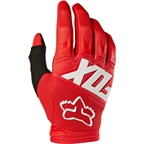 Fox Racing Dirtpaw Race Youth Full Finger Glove: Red