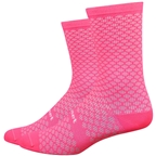 DeFeet Evo Mont Ventoux Socks: Flamingo Pink