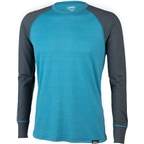 Surly Merino Raglan Shirt: Blue/Gray
