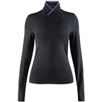 Craft Fuseknit Comfort Women's Wrap Long Sleeve Base Layer Top: Black