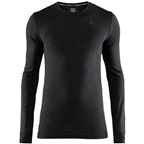 Craft Fuseknit Comfort Men's Round Neck Long Sleeve Base Layer Top: Black