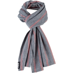 Surly Merino Wool Scarf: Gray/Orange Stripe,One Size
