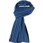 Surly Merino Wool Scarf: Blue/Navy Stripe,One Size