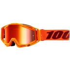 100% Racecraft Goggle: Mernio with Mirror Red Lens, Spare Clear Lens Included