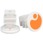 Ergon End Plugs for GA2/GA2Fat/GA3: Orange