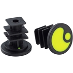 Ergon End Plugs for GA2/GA2Fat/GA3: Laser Lemon