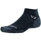 Swiftwick Pursuit One Wool Sock: Black