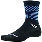Swiftwick Vision Five Edge Sock: Black/Blue