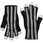 CycleAware Reflect+ Hi-Vis Reflective Glove: Black/Stripes, SM/MD