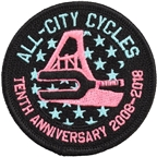 All-City THS - Century Club Patch: Black/Muli-color
