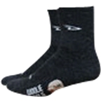 "DeFeet Woolie Boolie 4"" D-Logo Sock: Charcoal XL"